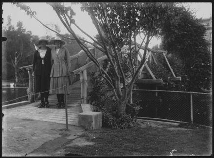 Two Women on Lakelet Bridge