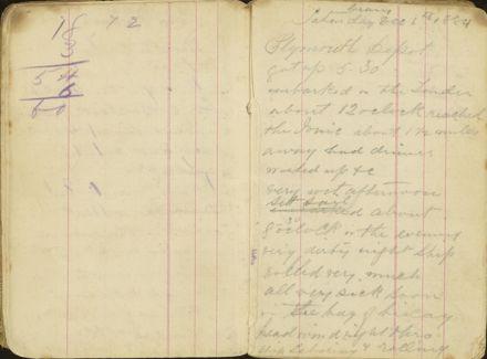 Shipboard diary p9