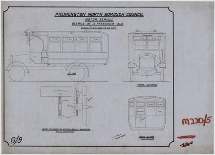 Details of a 19 passenger bus