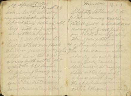 Shipboard diary p10