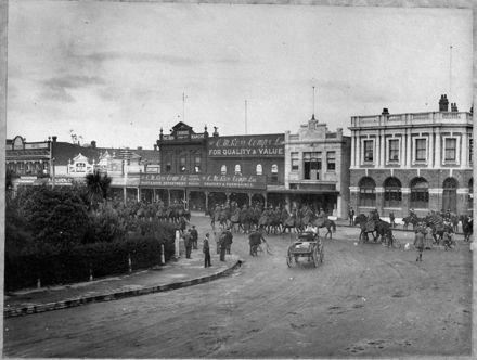 Manawatu Mounted Rifles Parade in The Square