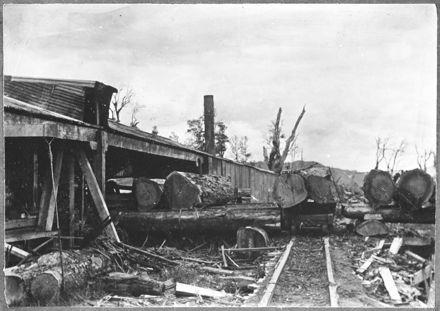 Sawmill on lower Kawhatu Road, near Mangaweka