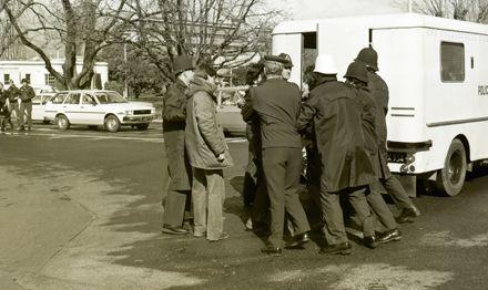 Protesters arrested in Anti-Springbok Tour march