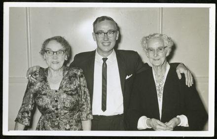 Tony Evans Collection: Catherine Evans, Tony Evans and Edith Shortt at Tony's 21st