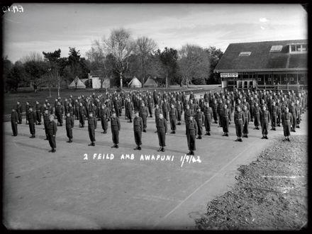 Soldiers at Awapuni Racecourse - 2nd Field Ambulance