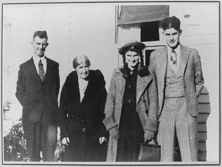 Mrs Emily Blenkiron with her family