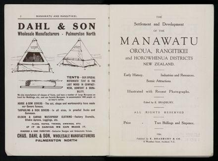 Bradbury's Illustrated Series No. XI. Manawatu and Rangitikei Districts 3