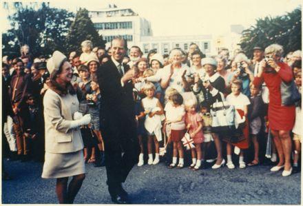 Duke of Edinburgh with Mayoress Black in The Square