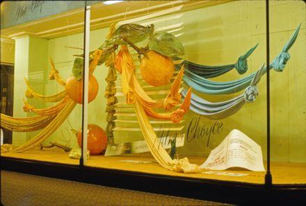 Milne and Choyce window display of fabrics