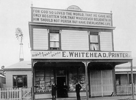E Whitehead, Printer, 484 Main Street