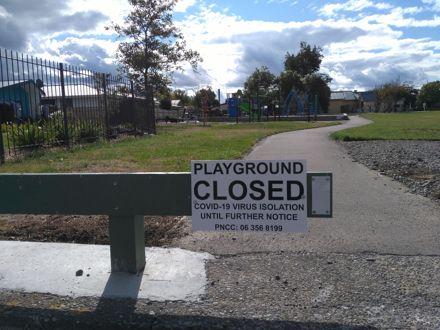 Park closure due to COVID-19 lockdown
