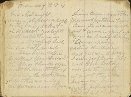 Shipboard diary p23