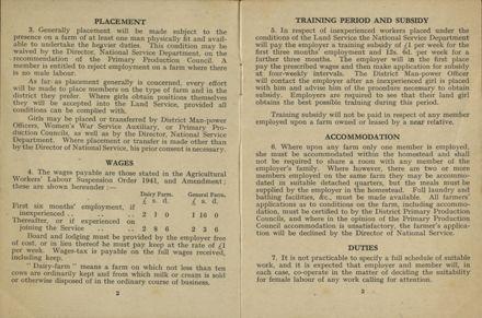 New Zealand Women's Land Service Handbook of Information 3