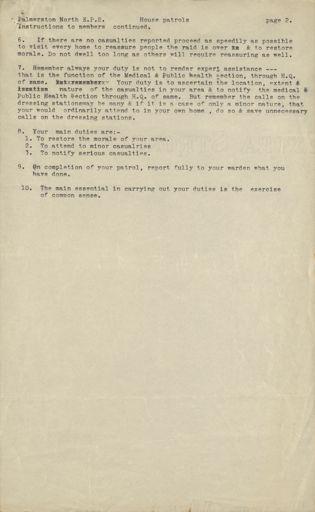 Palmerston North Emergency Precautions Scheme instructions 2