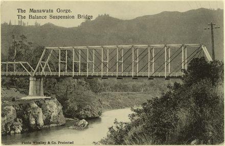 Ballance Suspension Bridge, near Manawatu Gorge