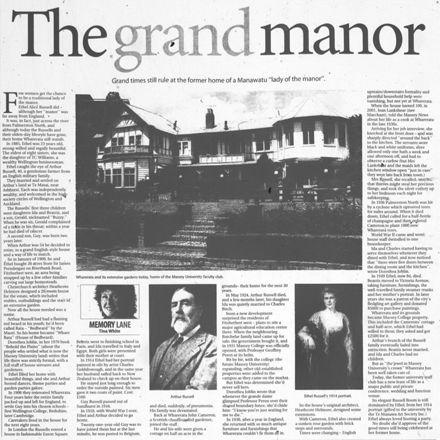 "Memory Lane - ""The grand manor"""