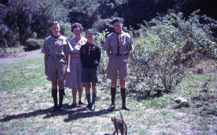 The Liggins Family in Scouts uniforms