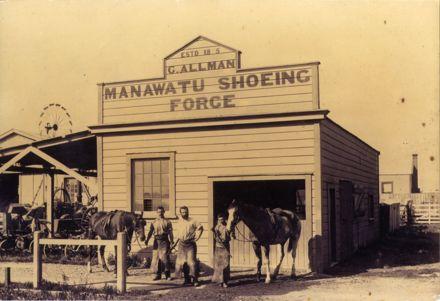 G Allman, Manawatu Shoeing Forge