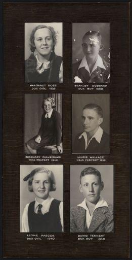 Terrace End School Student Leaders, 1939-1940