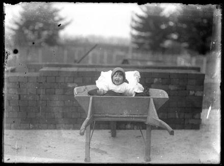 Toddler in Wheelbarrow