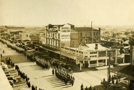 Maori Battalion marching in Palmerston North (2)