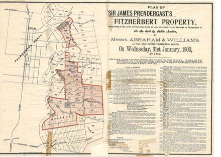 Sale of land notice, for Sir James Prendergast's Fitzherbert property