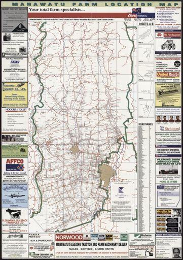 Manawatu Farm Location Map