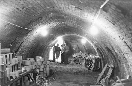 Interior of Hoffman brick kiln, Featherson Street