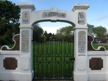 Memorial Archway, Terrace End School, Ruahine Street