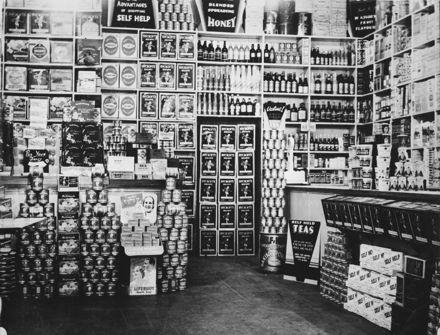 Interior of Self Help grocery store, Rangitikei Street