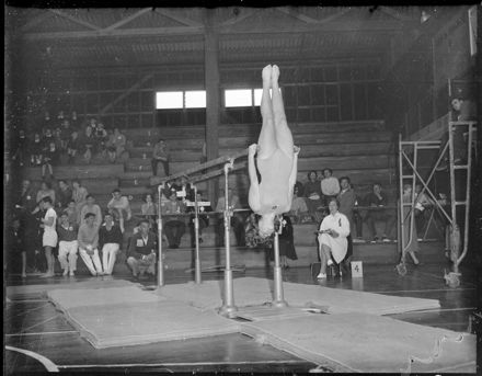 """""""About to Begin First Action on Parallel Bars"""" NZ Gymnastics Championships"""