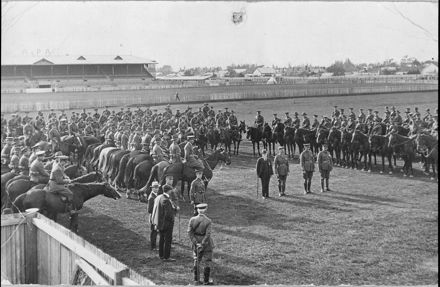 Medal presentation to members of the 6th Mounted Rifles