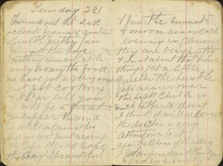 Shipboard diary p34