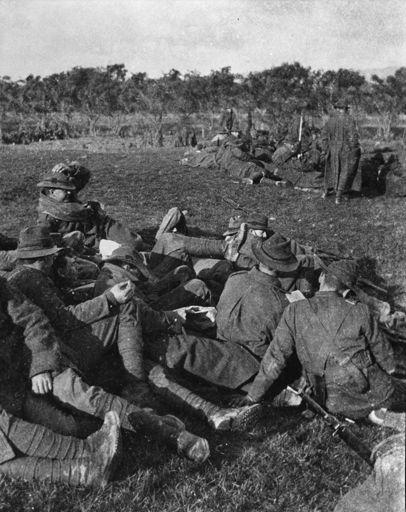 Troops relaxing at Hokowhitu Rifle Range