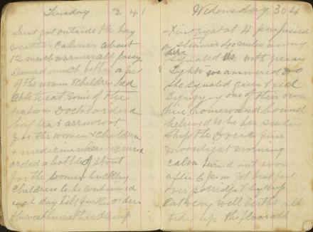 Shipboard diary p11