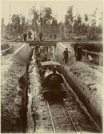 A & L Seifert Flaxdressing Company Ltd locomotive, near Shannon