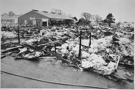 Aftermath of fire at Palmerston North Showground