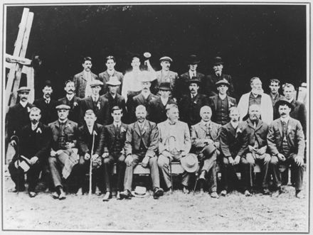 Members of the First Fitzherbert East Sports Club