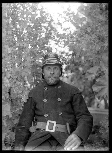 Unidentified Fireman in Uniform