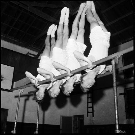"""Physical Fitness Is Their Aim"" [gymnastics]"