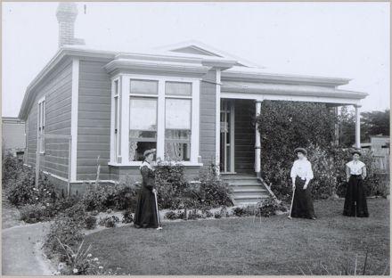 Rawstrom family and house, corner of Princess and Ferguson Streets