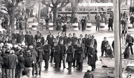 Police Lines in Cuba Street
