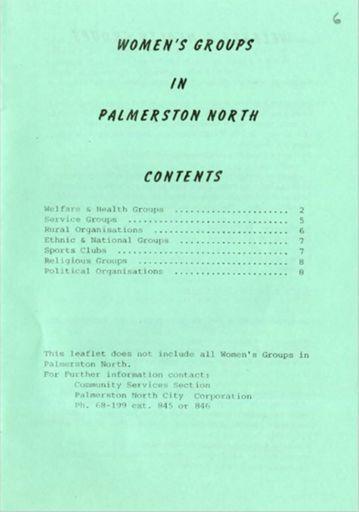 Women's Groups in Palmerston North