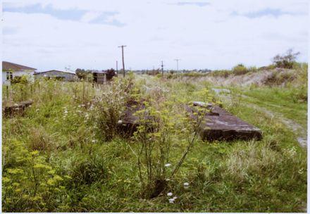 Concrete foundations at Liggins flax mill, Tokomaru