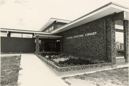 Feilding Municipal Library, corner of Stafford and Bowen Streets, Feilding