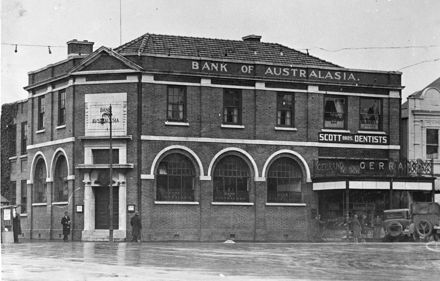 Bank of Australasia, corner of The Square and Broadway.