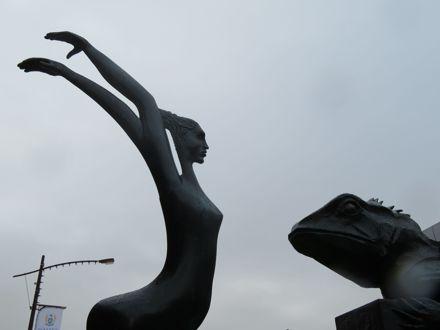 "'Who's Afraid"" sculpture, Broadway"