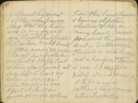Shipboard diary p28