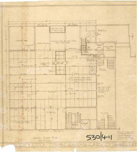 CM Ross Architectural Plan, Fourth Floor, 1928