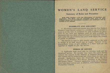 New Zealand Women's Land Service Handbook of Information 2